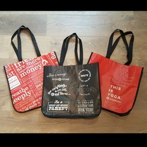 3 Large Lululemon Reusable Tote Bags